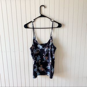 White House Black Market Floral Strapped Blouse